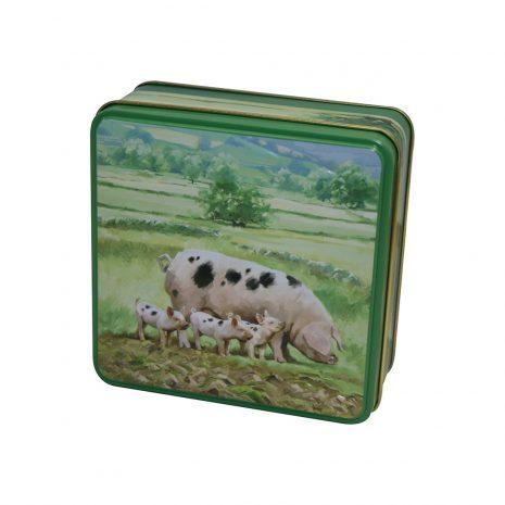 GW Embossed pigs tin