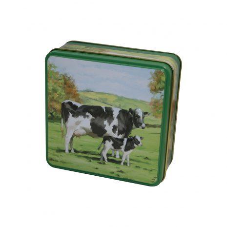 GW embossed cow tin
