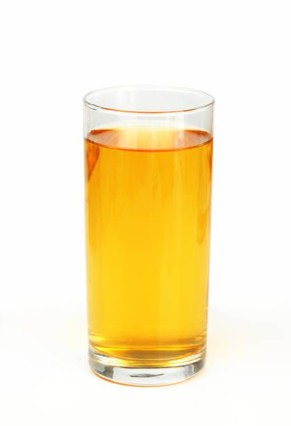 Glass of apple juice - studio shot