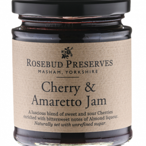 rosebud cherry and amaretto jam